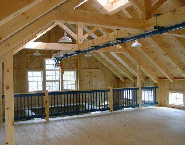 Within The Previous 10 Years That Negative View Of The Garage Has Actually Changed Dramatically Climatizing The Garage Workshop Timber Frame Barn Garage Decor