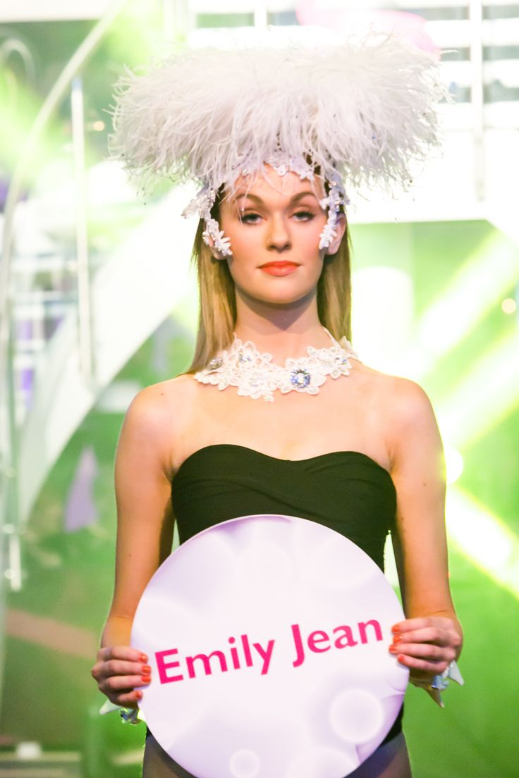 Emily Jean head piece at Glamour at the g - June 2014.