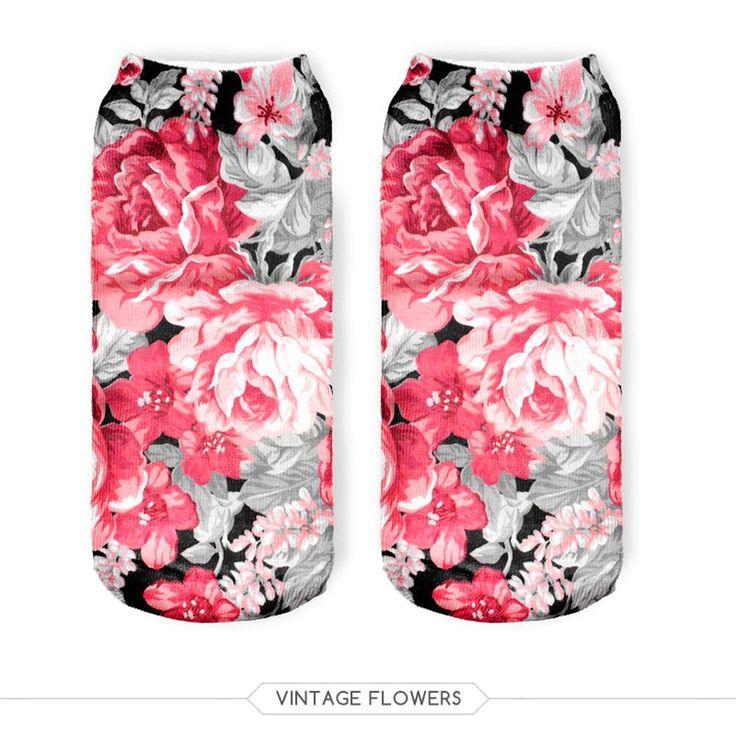 $0.99// Floral Socks// Delivery: 2-4 weeks