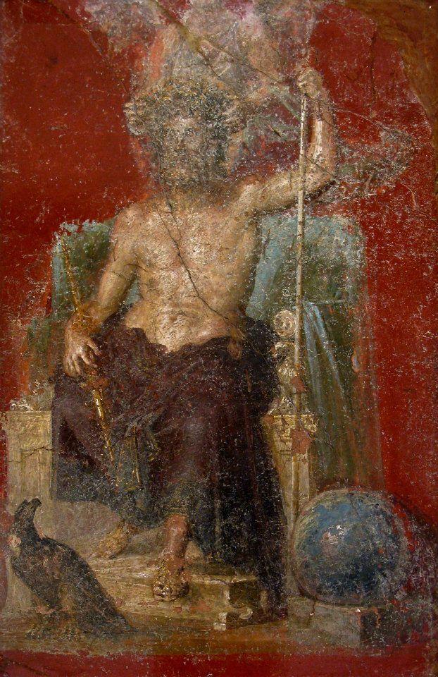 Zeus - From Pompeii, Casa dei Dioscuri. Now Museo archeologico Napoli