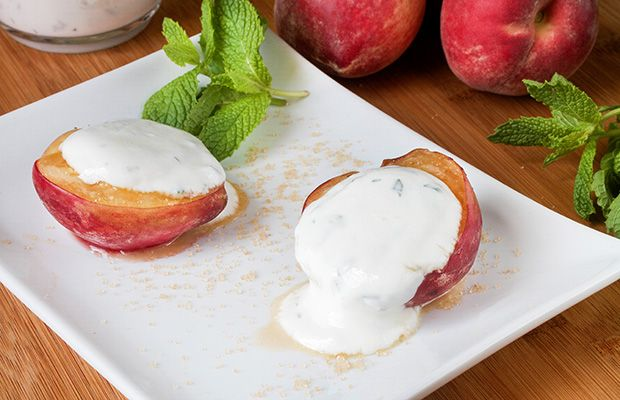 Healthy Baked Peaches and Cream Recipe