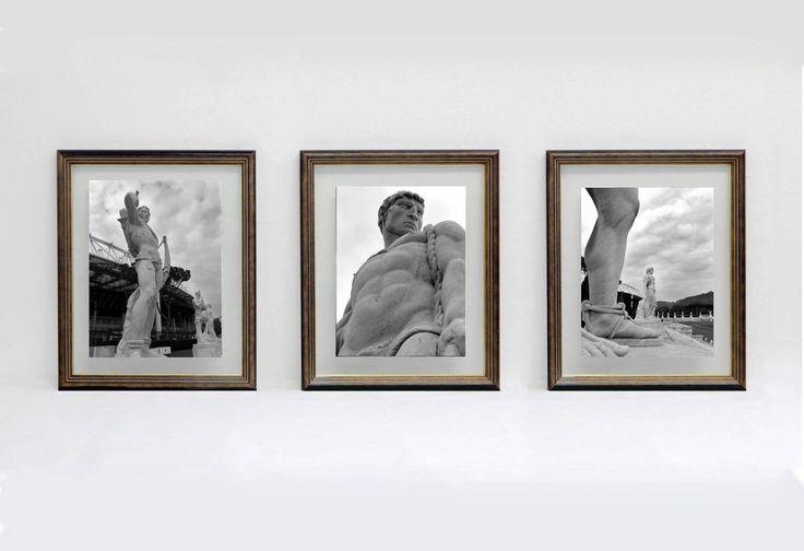 """Art print di fotografia serie: """"Marmi di Roma"""" - TRE STATUE dello stadio dei Marmi a Roma - foto su carta speciale di IMMAGINEeIDEA su Etsy"""