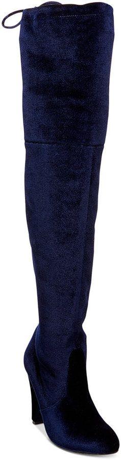 Steve Madden Women's Gorgeous Velvet Over-The-Knee Block-Heel Boots REG. $129.99 SALE $32.46