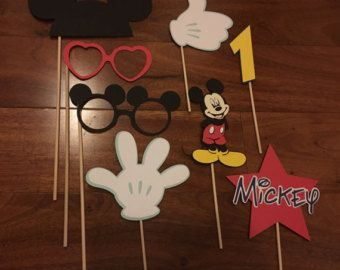 Mickey Mouse photo prop printables INSTANT por MyHeartnSoulBoutique