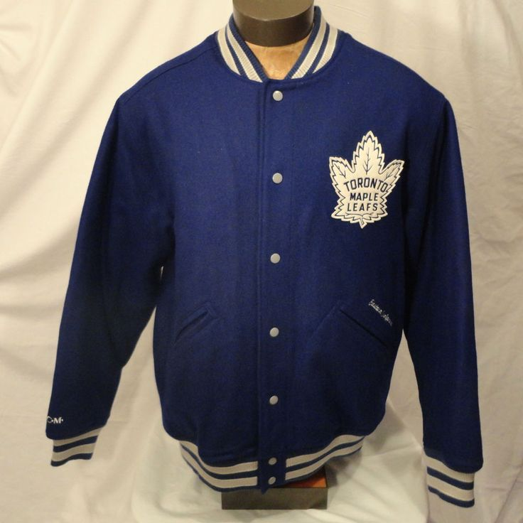 Ccm Toronto Maple Leafs Letterman Varsity Nhl Jacket Coat