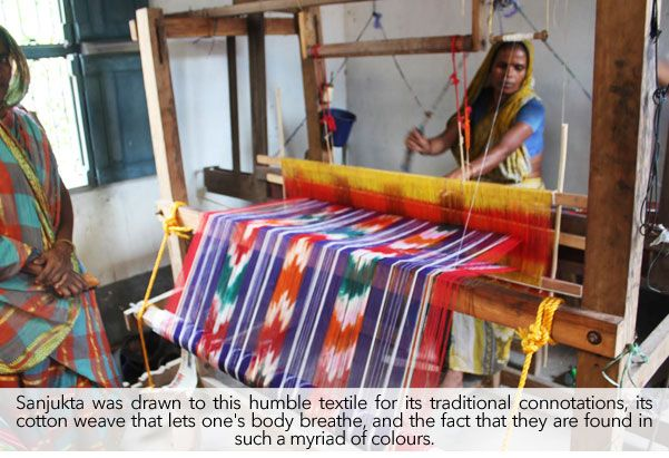 Buy The Gamccha Story by Sanjukta Handwoven Gamcchas Converted into Sarees! Online at Jaypore.com