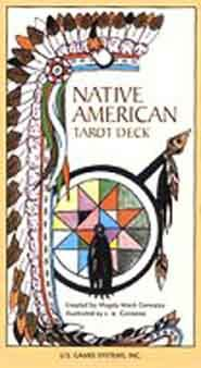 Native American Tarot deck by Gonzalez, Magda Weck Created by a woman of Shawnee heritage, and illustrated by her husband, J.A. Gonzalez, the cards feature Native American history, symbolism and folklore including material related by a Blackfoot medicine man, Harry Sparrowhawk. The cards depict different aspects of daily life from a variety of Native American tribes including Apache, Arapaho, Cherokee, Cheyenne, Chippewa, Comanche, Hopi, Huron.