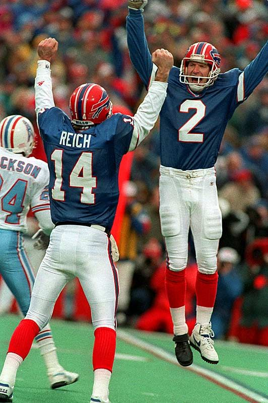 Frank Reich and Steve Christie, Buffalo Bills 32 point comeback win vs. Houston Oilers. Largest in NFL history.