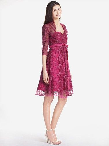 Lace Baby Doll Dress With Removable Lace Bolero   Plus sizes available! You can even custom dress color with them!