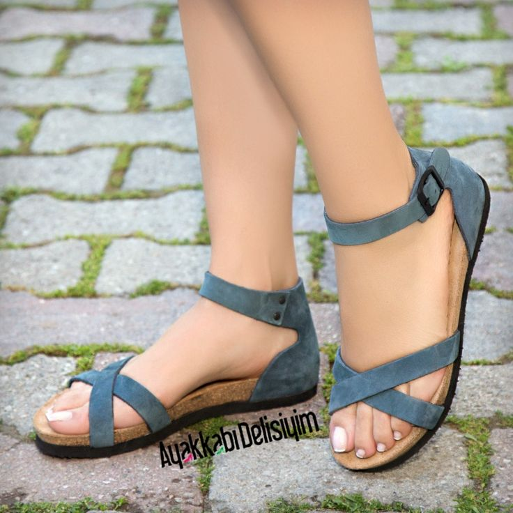 Mavi Sandalet #sandals