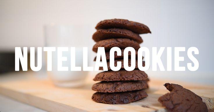 Supersmarriga Nutellacookies på bara 3 ingredienser.