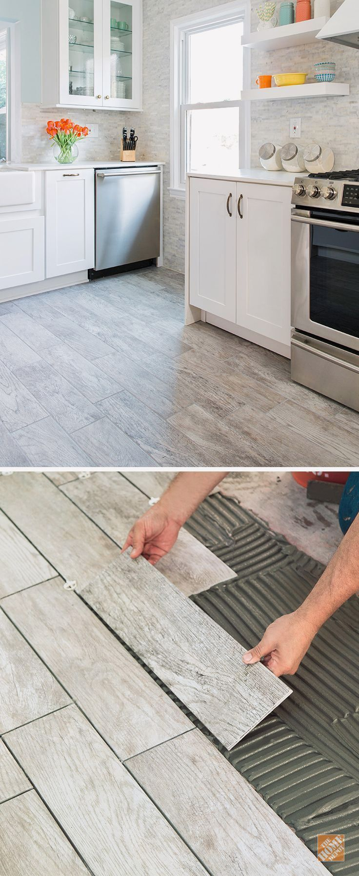 13 Kitchen Floor Ideas Pinterest In 2020 Modern Kitchen Tile Floor Wood Tile Kitchen Floor Tile Design