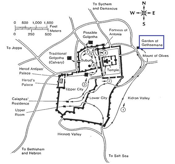 Jesus At The Garden Of Gethsemane Map 3 Gardens Pinterest Gardens The O 39 Jays And Jesus