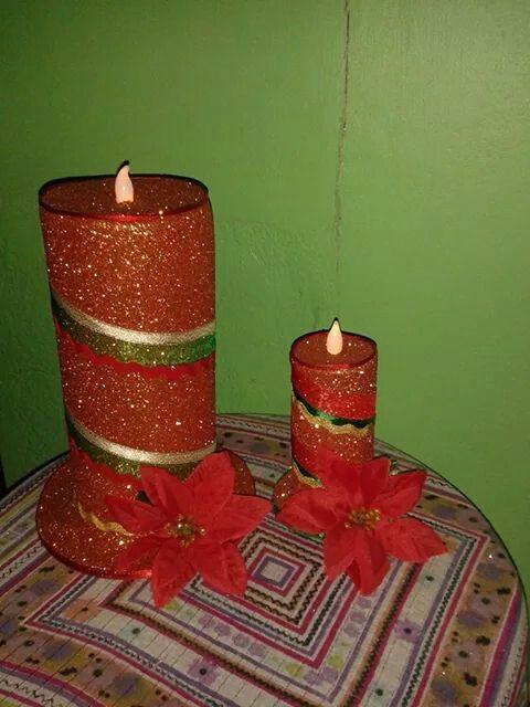 Candelas navideñas