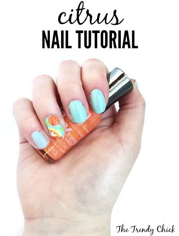 Citrus Nail Tutorial via The Trendy Chick