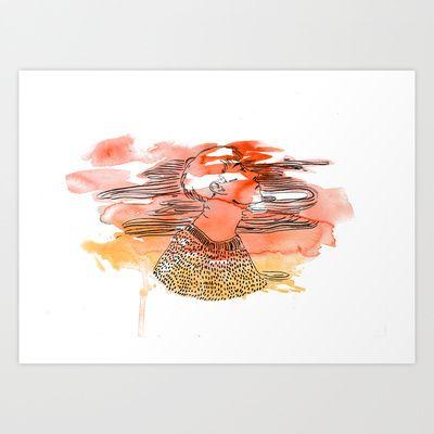 Wanderlust 2 Art Print by Kate Tram Nguyen - $15.00