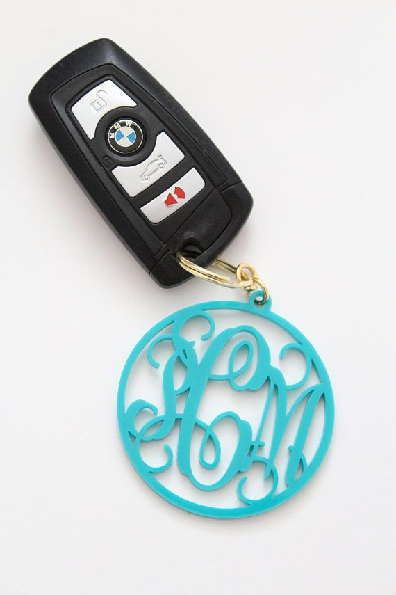 Personalized Monogram Acrylic Keychain - gift for her