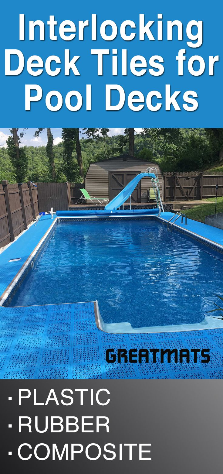 Greatmats Offers Easy To Install Pool Deck Tiles With Interlocking