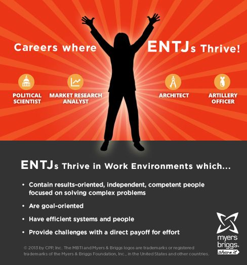 The careers and workplaces where ENTJs thrive! #MBTI #myersbriggs #careers