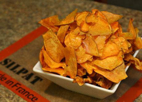 Sweet Potato Chips, cook at low temp