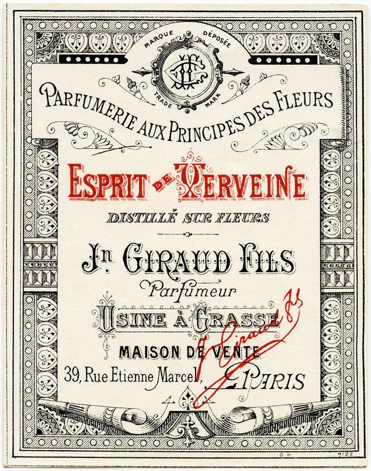 Parfum label