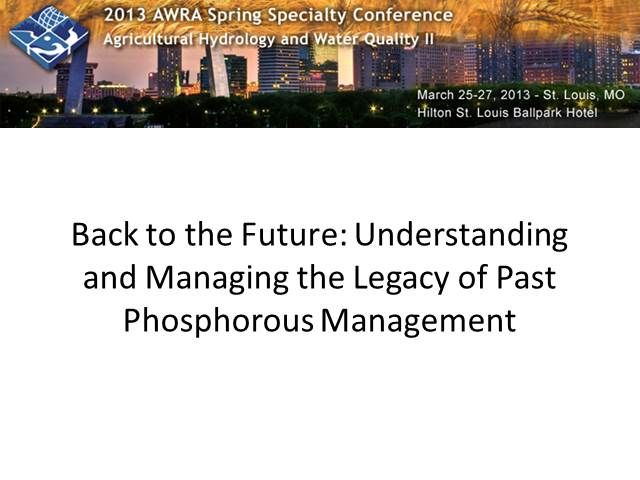 AWRA Live Learning Center  -- 2013 Spring Conference