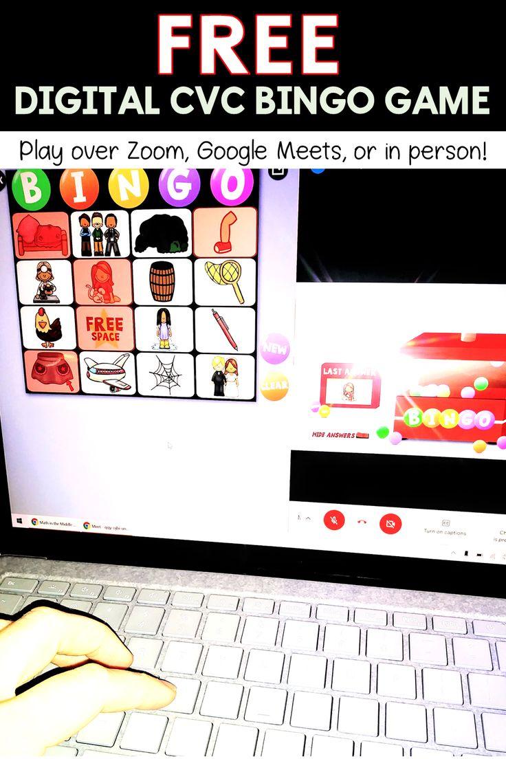 FREE CVC Short E Interactive Digital Bingo Game Distance