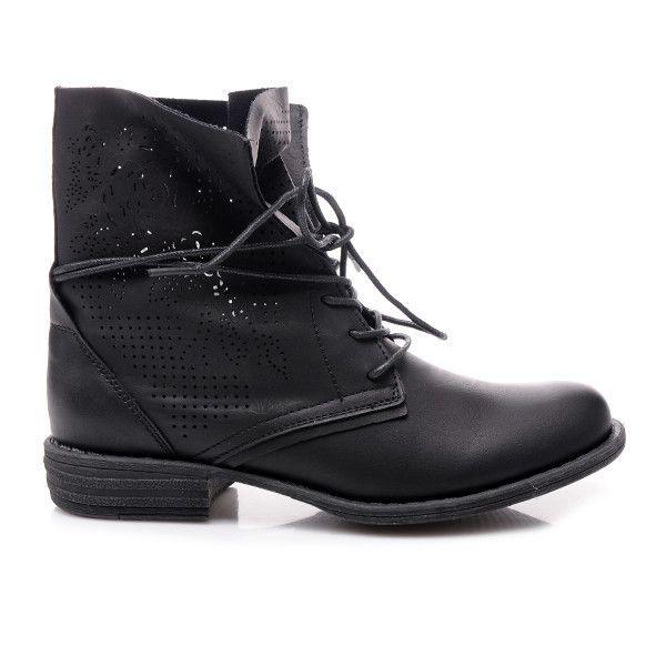 AŻUROWE WORKERY 67003B /S3-103P - czarny > CzasNaButy.pl > buty i torebki