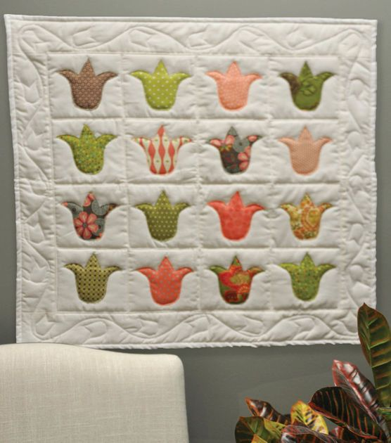 free pdf for Tulip Quilt Wall Hanging