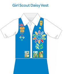Where to Place Insignia on a Daisy Scout Uniform