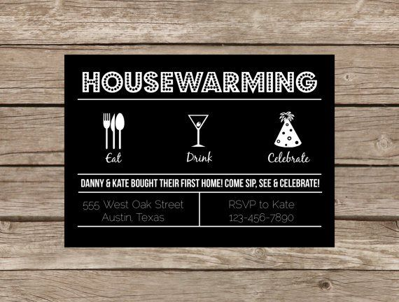 25+ best housewarming invitation wording ideas on pinterest, Party invitations