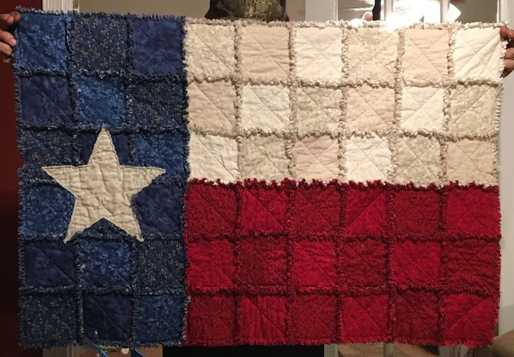 Texas Flag Rag Quilt Throw Or Wall Hanging 2019 Quilt Decor Rag Quilt Rag Quilt Patterns Texas Quilt