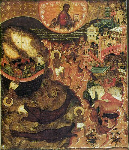 Jonah and the whale. Orthodox icon