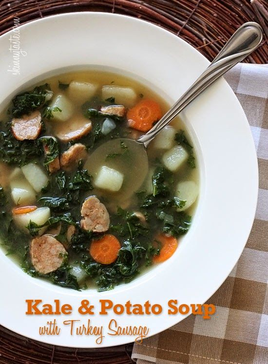 Skinnytaste Clean Eating Kale And Potato Soup With Turkey