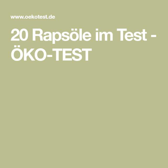 20 Rapsöle im Test - ÖKO-TEST