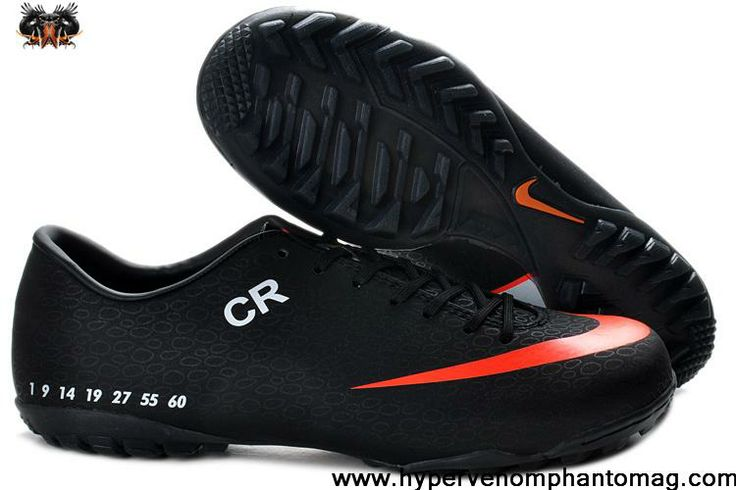 2013 CR exclusive personal Turf shoes - Nike Mercurial Vapor Superfly Sixth style Black Orange