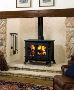 Yeoman Multi Fuel Stoves :: 22KW County 80HB Multi Fuel Boiler Stove