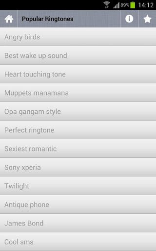 Free popular ringtone app!!! Free popular ringtone App contains best selection of the most Free popular ringtone. 30 top rated cool melodies and popular tunes you will love. Hip hop, techno, remix, techno beats, R&B, club, disco, DJ, guitar, piano and more. Enjoy these cool ringtones! These Free popular ringtone can install as phone ringtone, SMS ringtone and Alarm ringtone. Tags: Free popular ringtone, android popular, cool ringtone, popular android ringtones, best ringtones, best ...