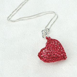 Ravelry: DIY Wire Crochet Heart Pendant , step by step instruction , YoolaDesign , Wire Crochet Jewelry pattern by Yael Falk