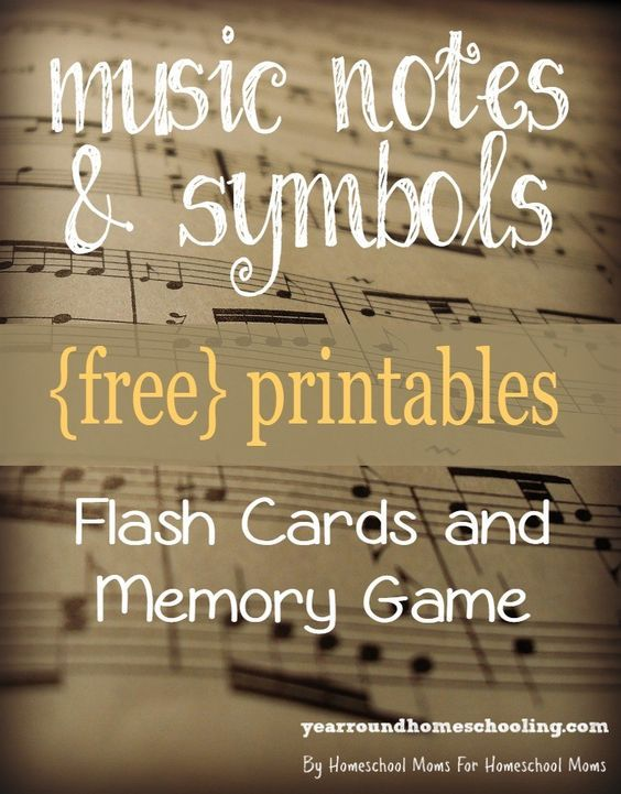 Teaching your kids about music is easy with these FREE music notes and symbols printables!