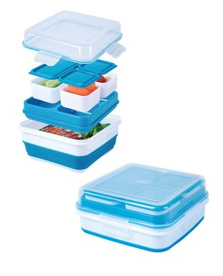Cool Gear EZ Freeze Bento Box Container - 1465: Take healthy homemade lunches anywhere without the need for a  refrigerator. The non-toxic gel-filled interior tray keeps food cold inside the box and the multiple components allow you to keep food separated $10.99