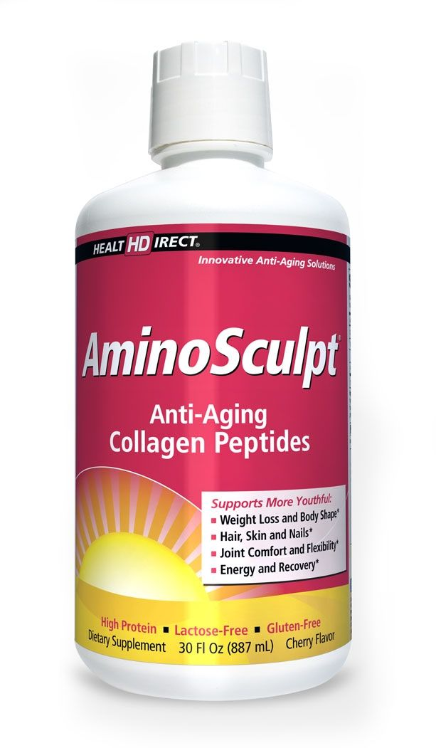 Aminosculpt (30 Fl Oz) Liquid Collagen Peptides For Lean Muscle, Beautiful Hair, Skin and Nails and More Youthful Joints
