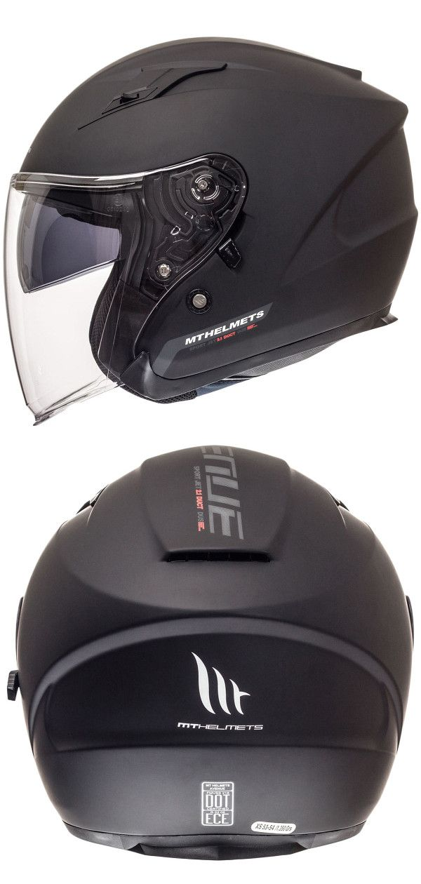 2a333e7f MT Helmets Avenue SV Solid Helmet in Matt Black - Urban riding scooter jet  helmet with a visor & sporty spoilers at the rear. This scooter jet helmet  is ...