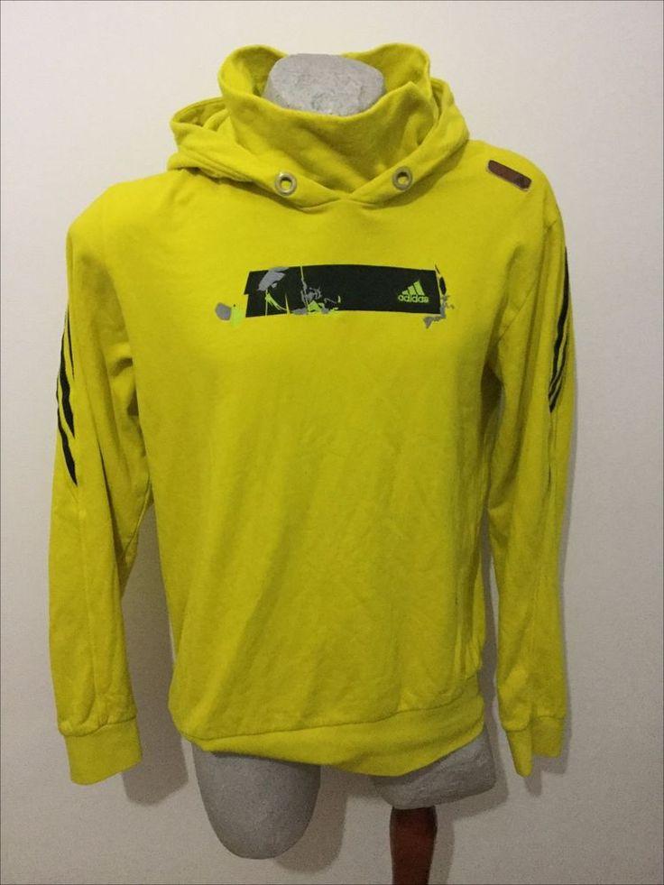 Maglia adidas yellow felpa sweatshirt jacket chaqueta vest jacke giacca vintage