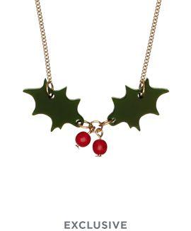 Holly Necklace - Dark Green £30 - Christmas 2016