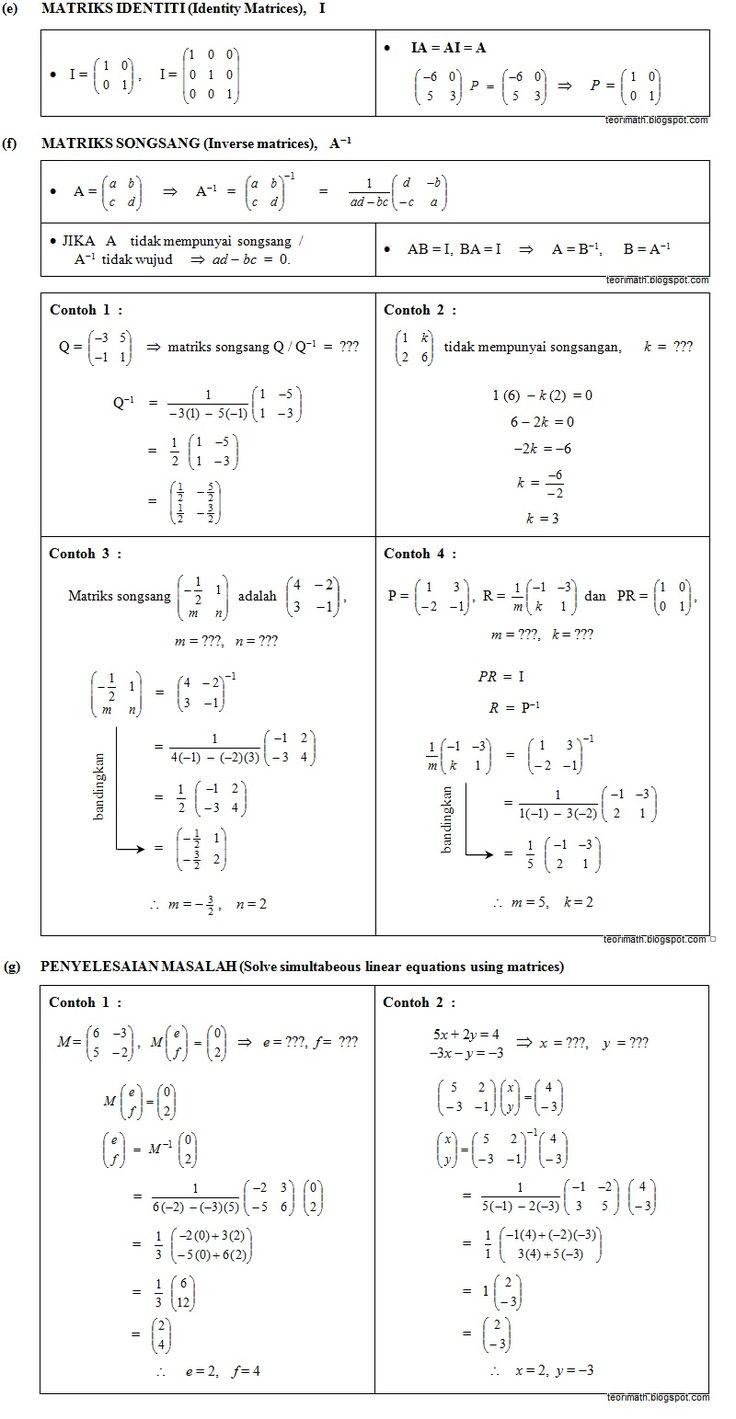 26 Matriks Matrices Buku Catatan Matematika Matematika Kelas 5 Belajar Matrix addition math is fun