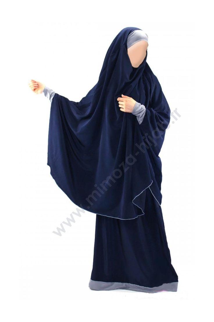 blue Jilbab Houda Ado - Mimoza Hijab