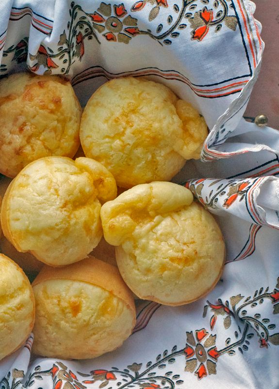 "Brazilian Cheese Puffs aka ""Best Rolls Ever"" These naturally gluten-free rolls made w/ tapioca flout and cheese ane an all-time family favorite and super easy to make!"