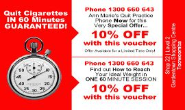 Quit Smoking and get 10% Off