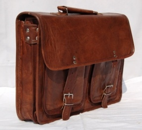 I have an obsession with brown leather messenger bags